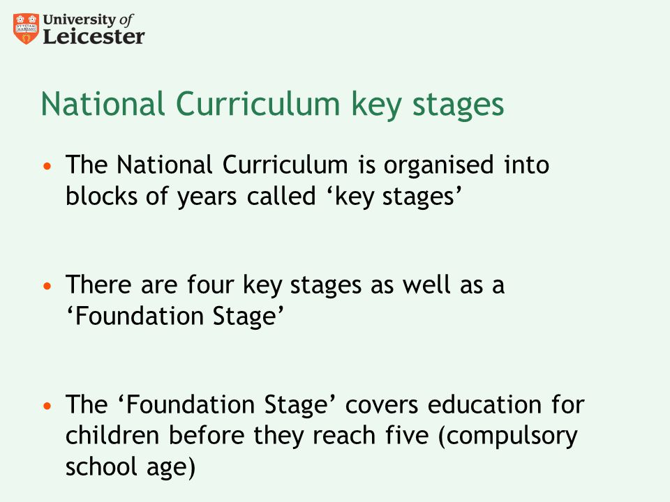 National Curriculum key stages