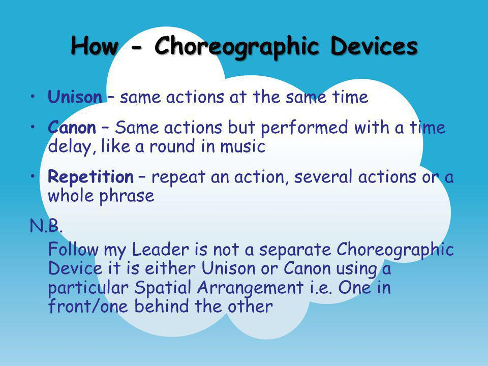 How - Choreographic Devices