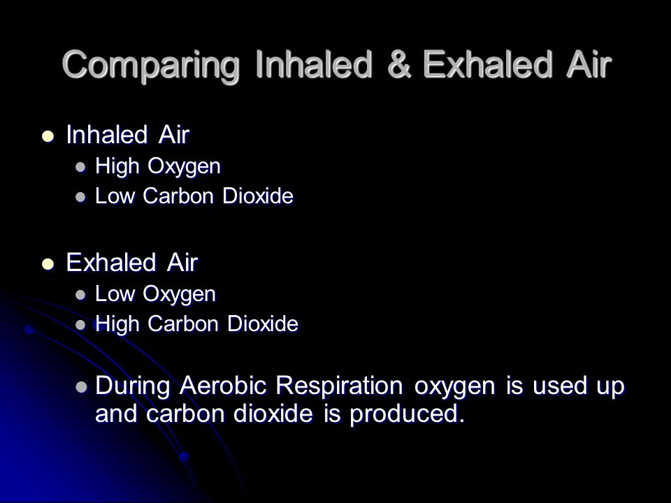 Comparing Inhaled & Exhaled Air