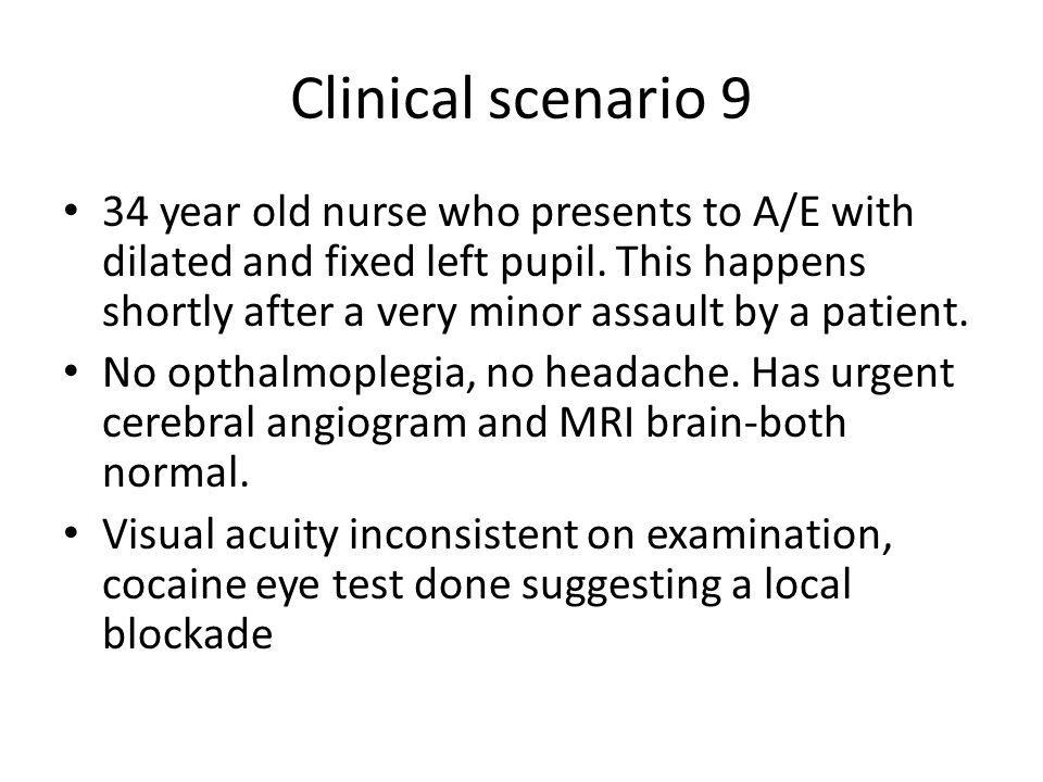 Clinical scenario 9
