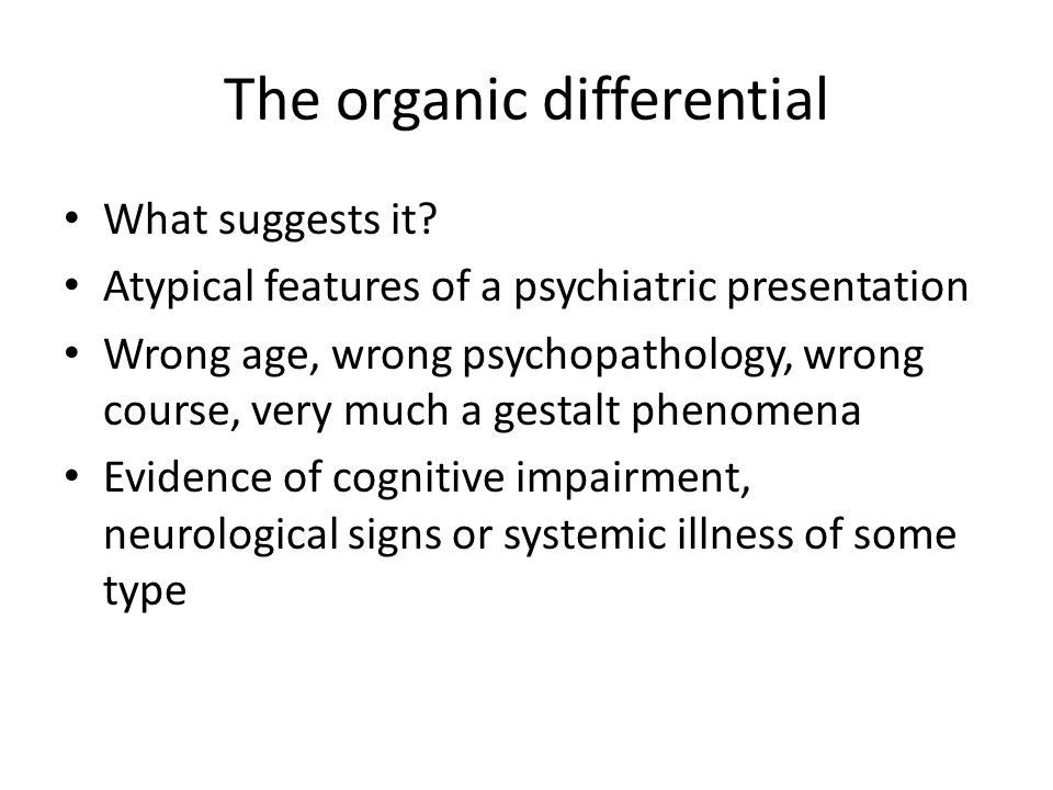 The organic differential