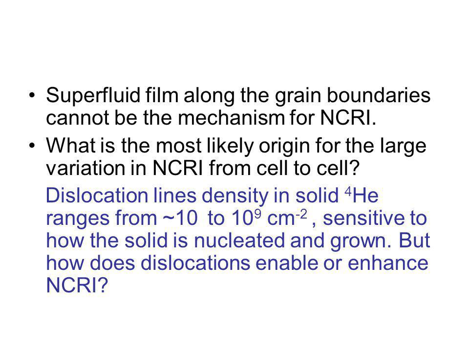 Superfluid film along the grain boundaries cannot be the mechanism for NCRI.