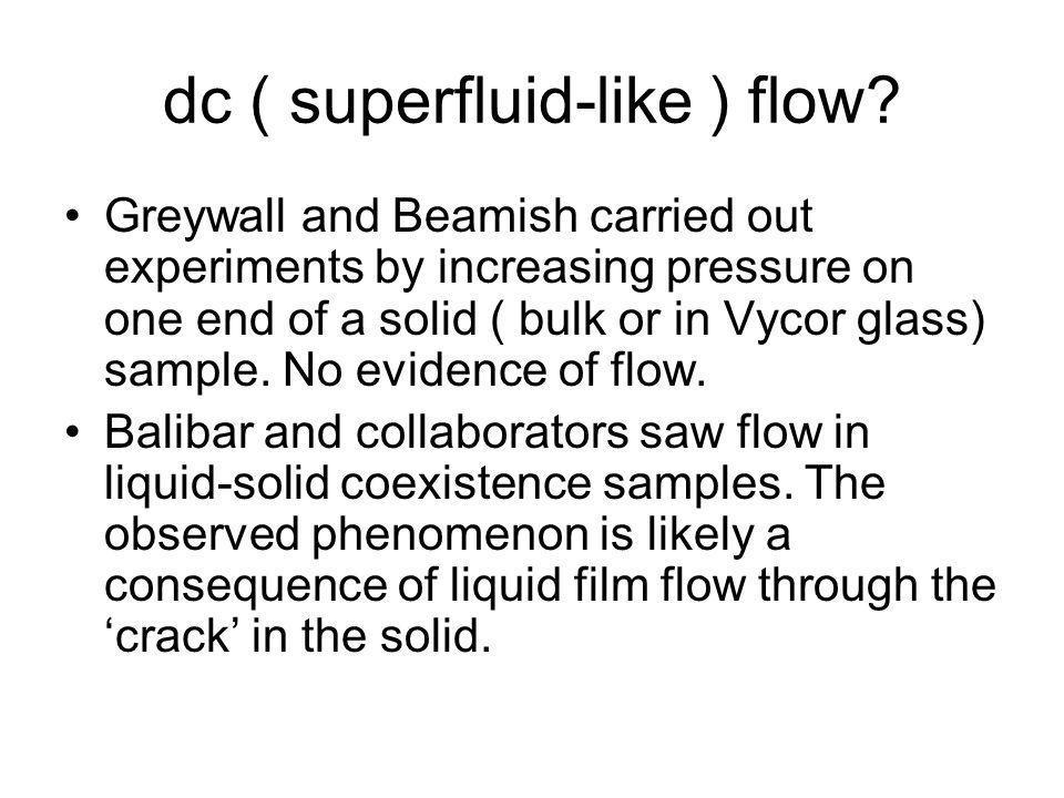 dc ( superfluid-like ) flow