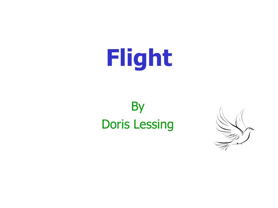 Flight By Doris Lessing