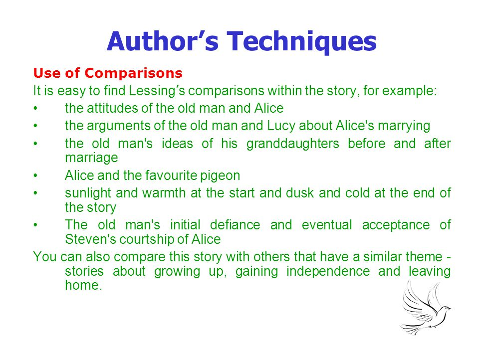Author's Techniques Use of Comparisons