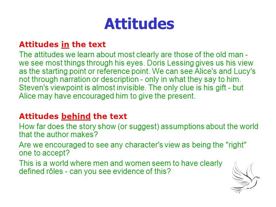Attitudes Attitudes in the text