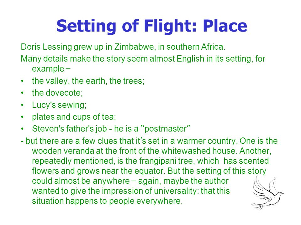 Setting of Flight: Place