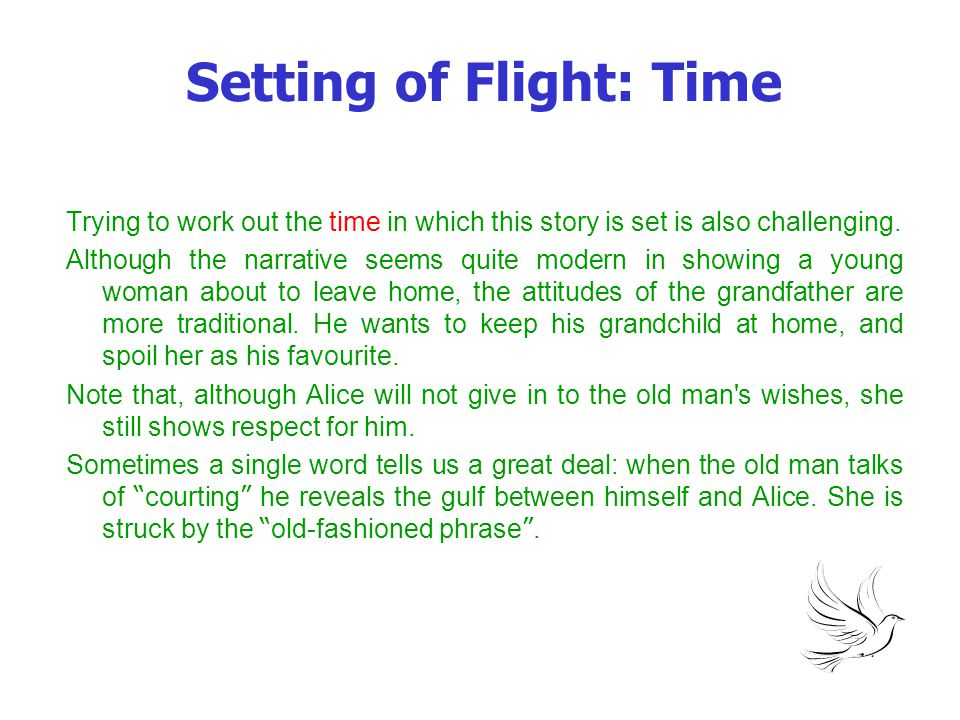 Setting of Flight: Time