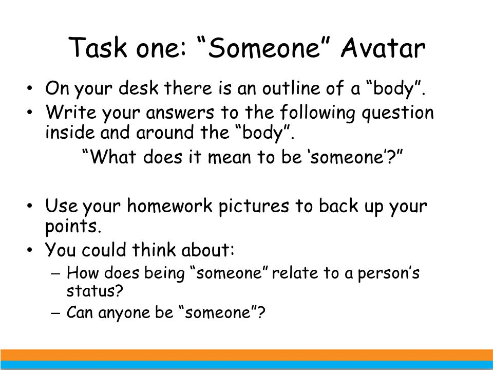 Task one: Someone Avatar