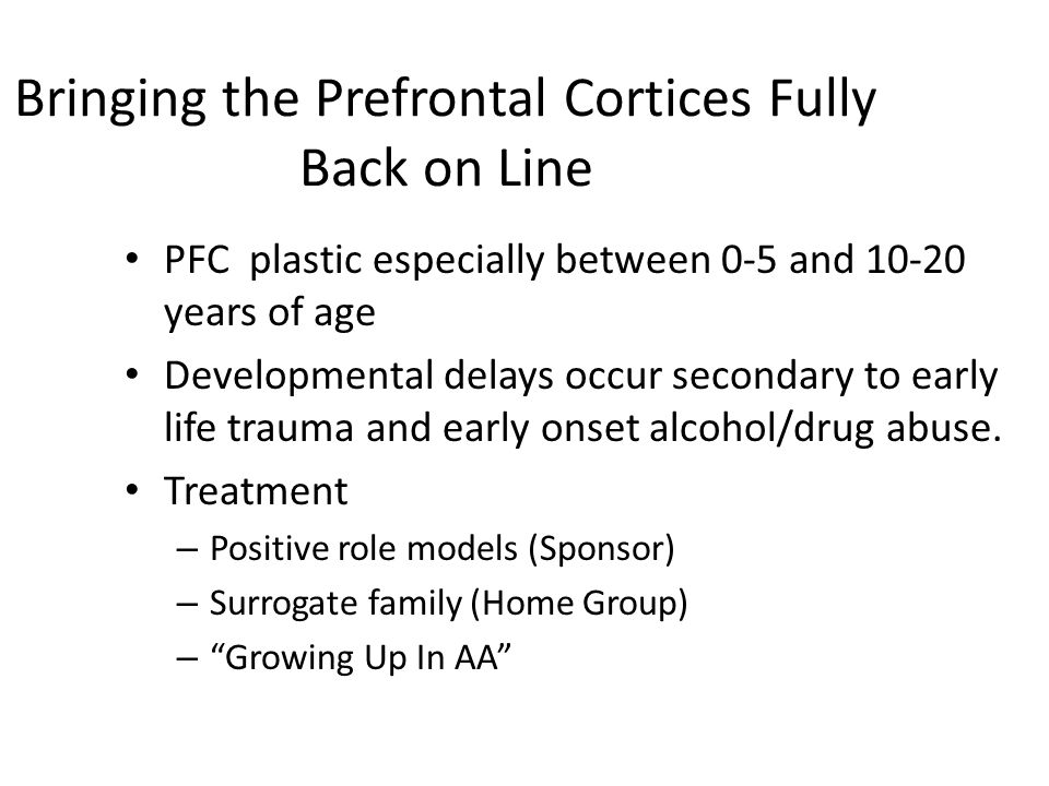 Bringing the Prefrontal Cortices Fully Back on Line
