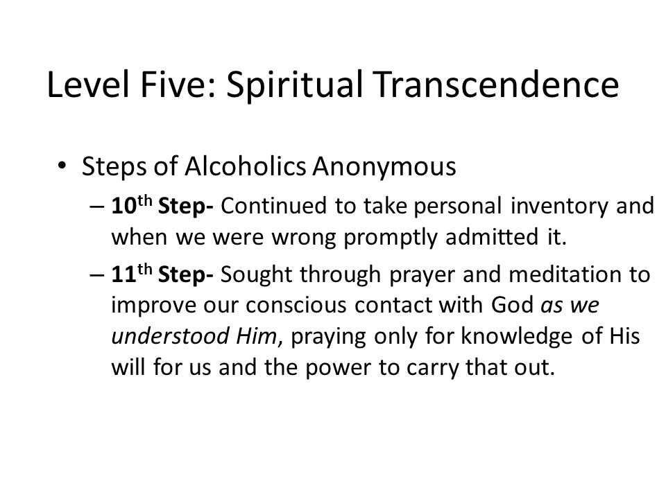 Level Five: Spiritual Transcendence