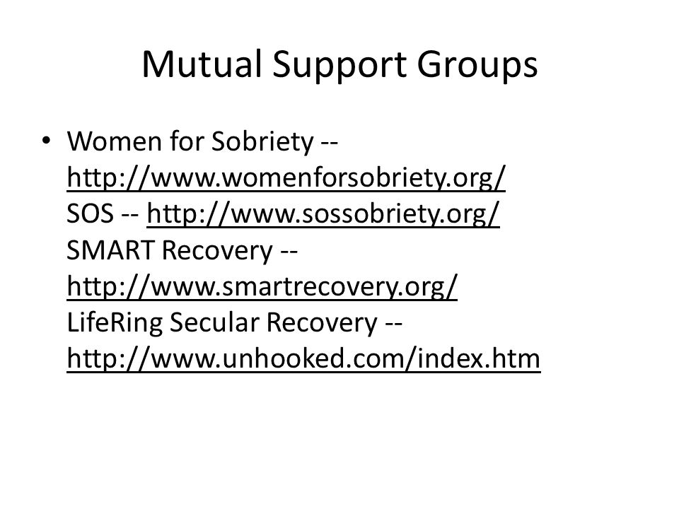 Mutual Support Groups