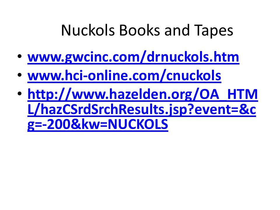 Nuckols Books and Tapes