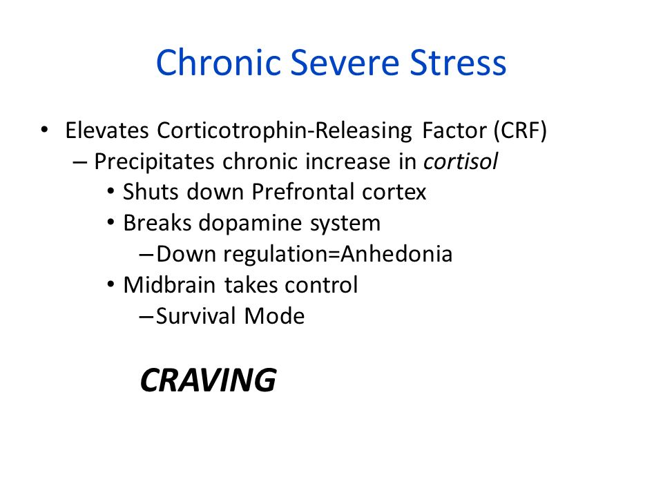 Chronic Severe Stress CRAVING