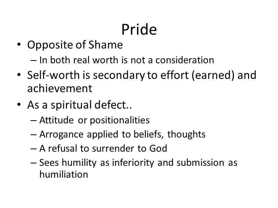 Pride Opposite of Shame