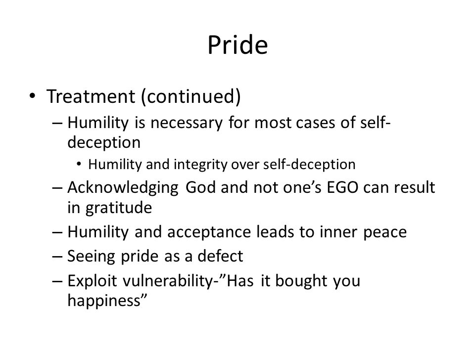 Pride Treatment (continued)