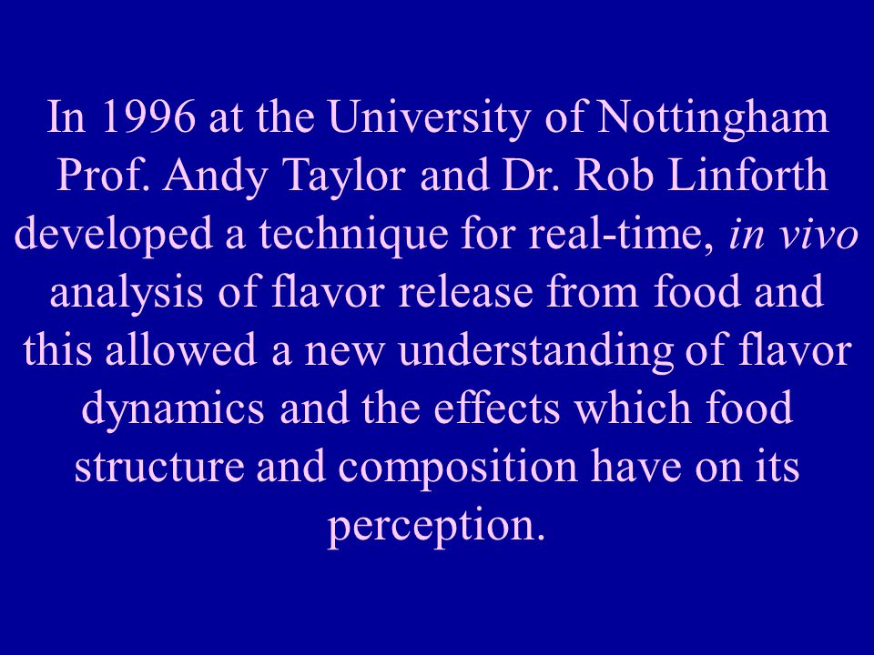 In 1996 at the University of Nottingham