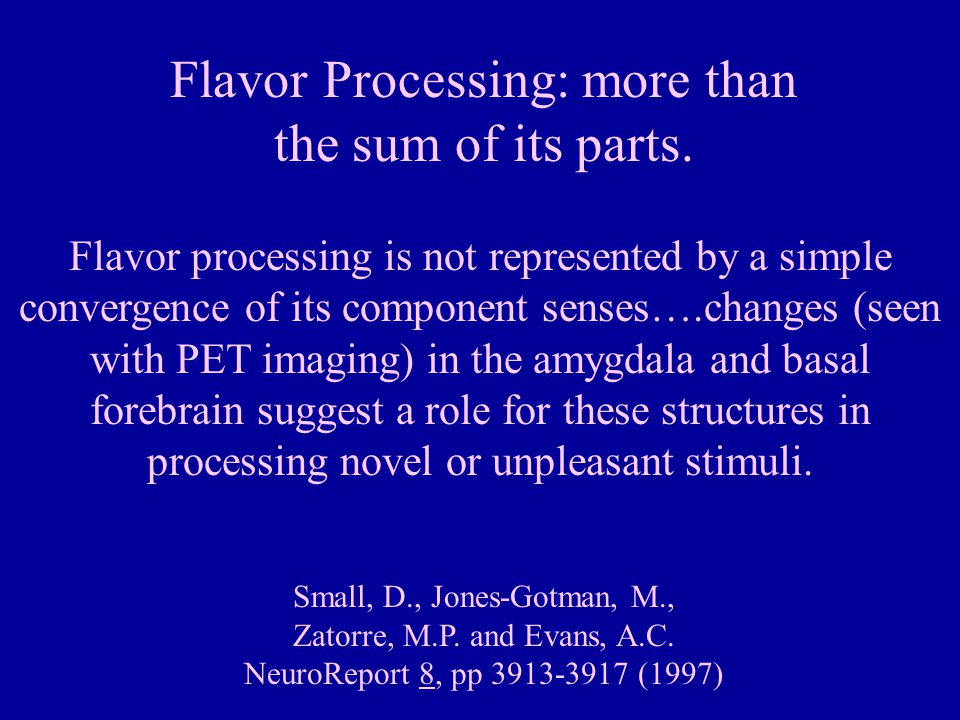 Flavor Processing: more than
