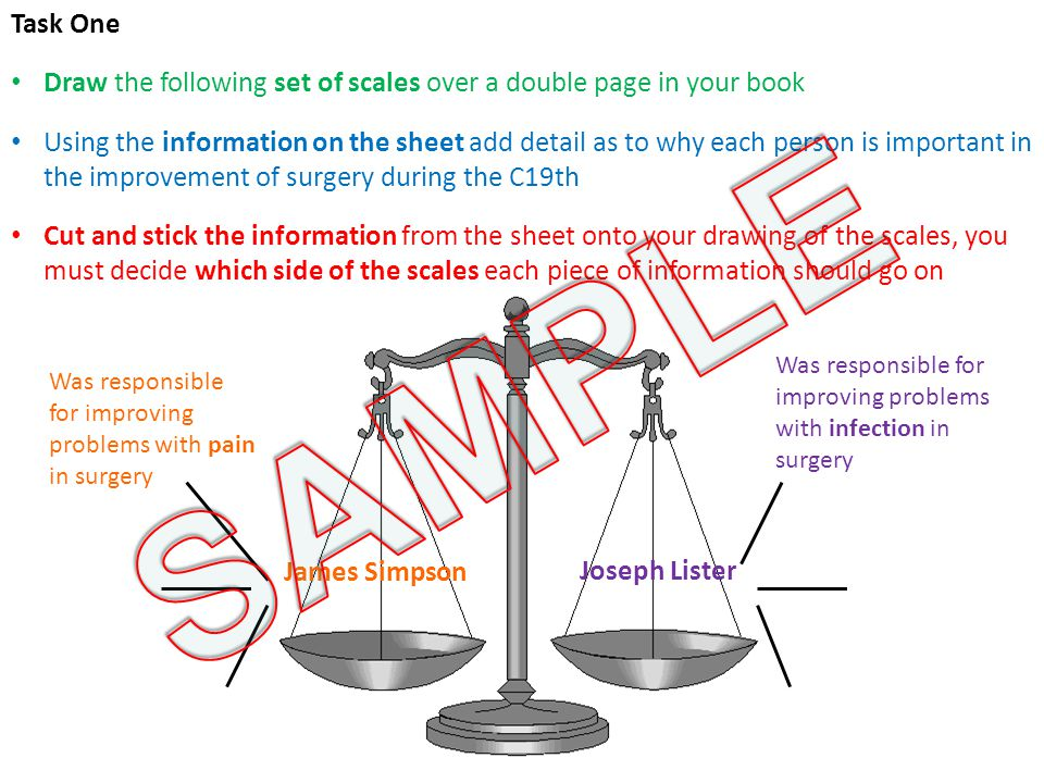 Task One Draw the following set of scales over a double page in your book.