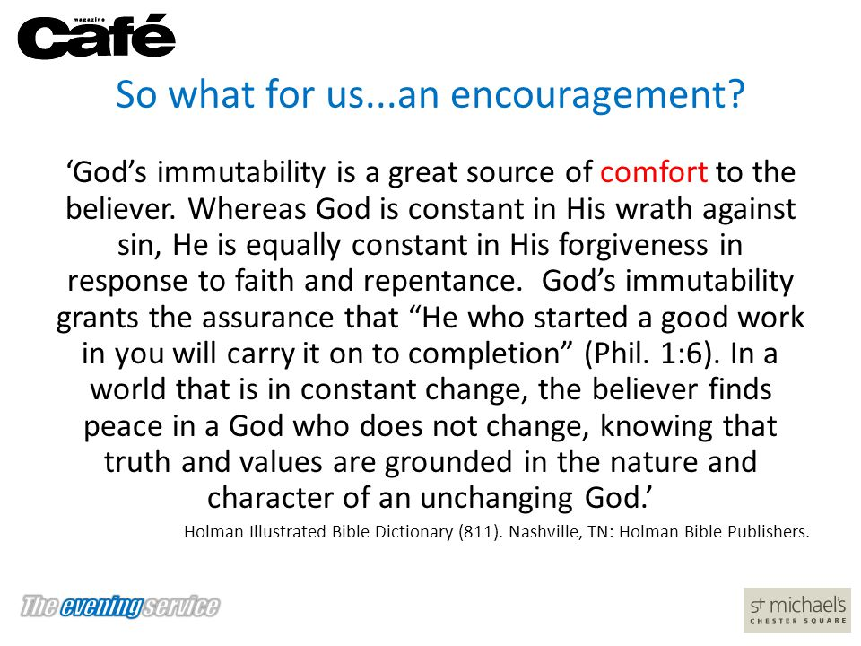 So what for us...an encouragement