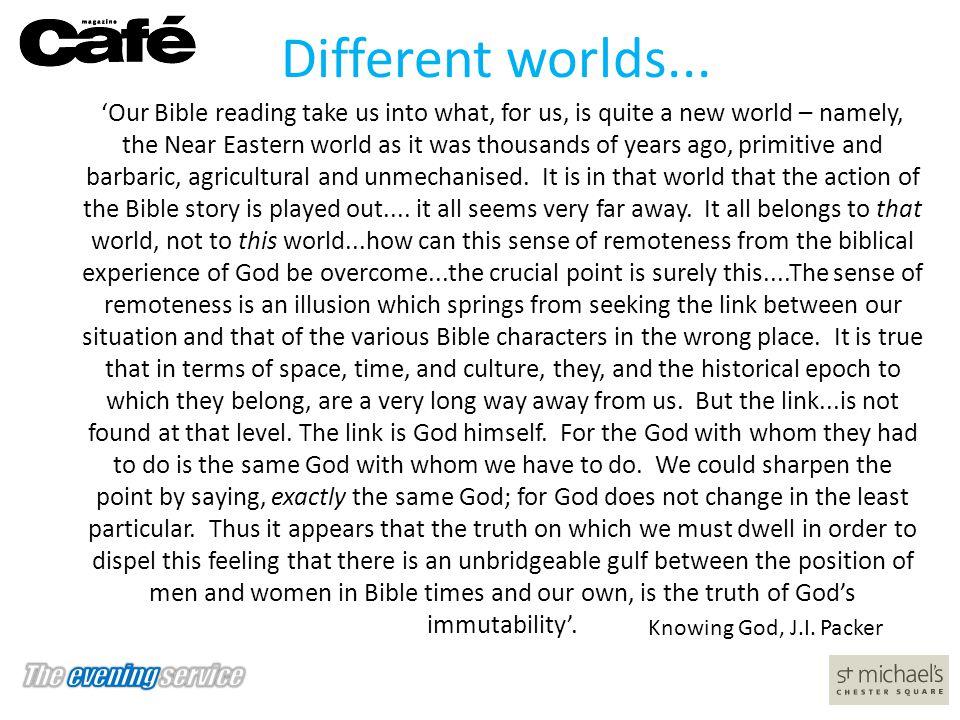 Different worlds...