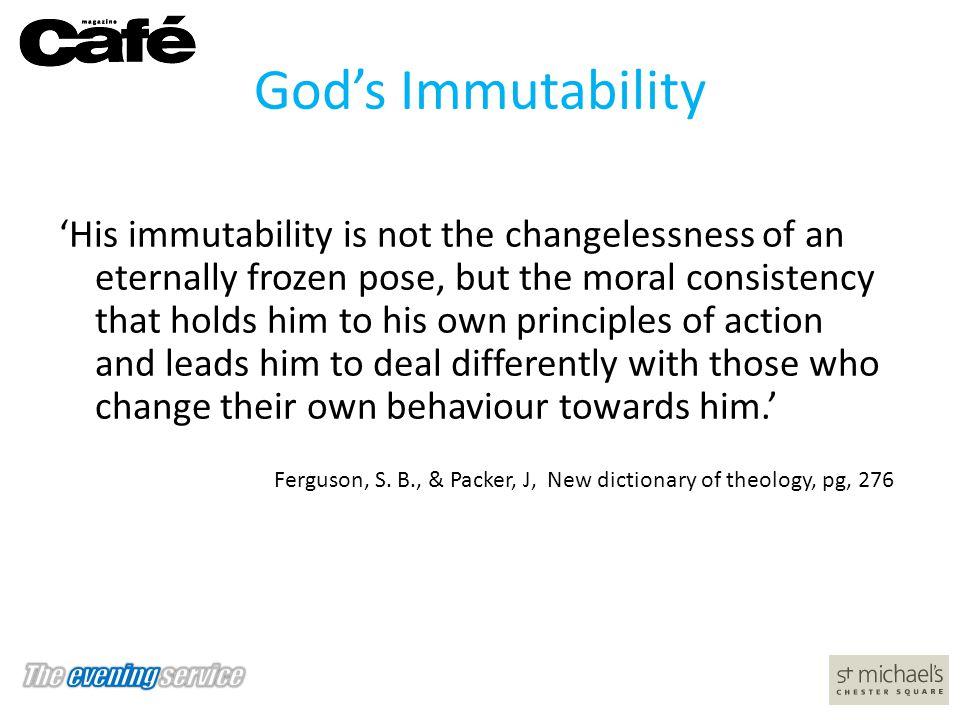 God's Immutability