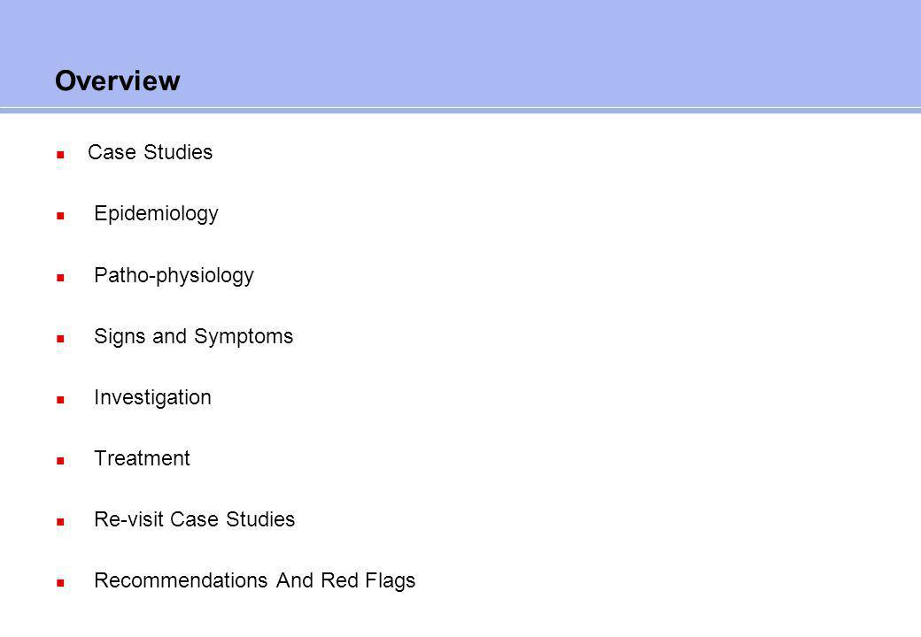 Chapter      Epidemiology and Statistics Case