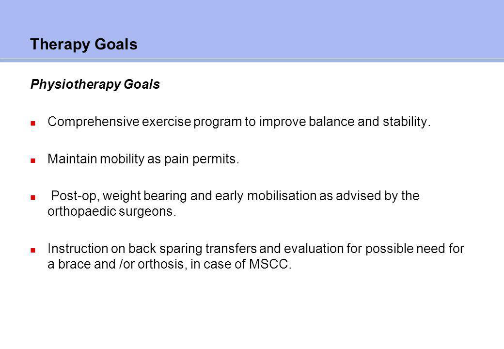 Therapy Goals Occupational Therapy Goals
