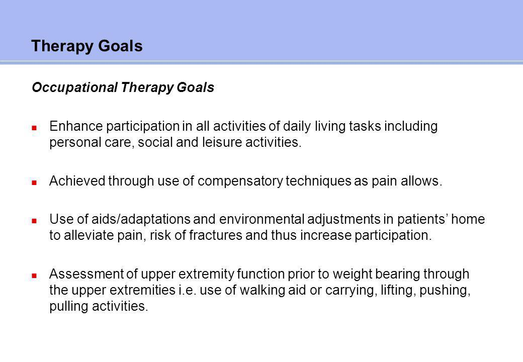 Case study occupational therapy