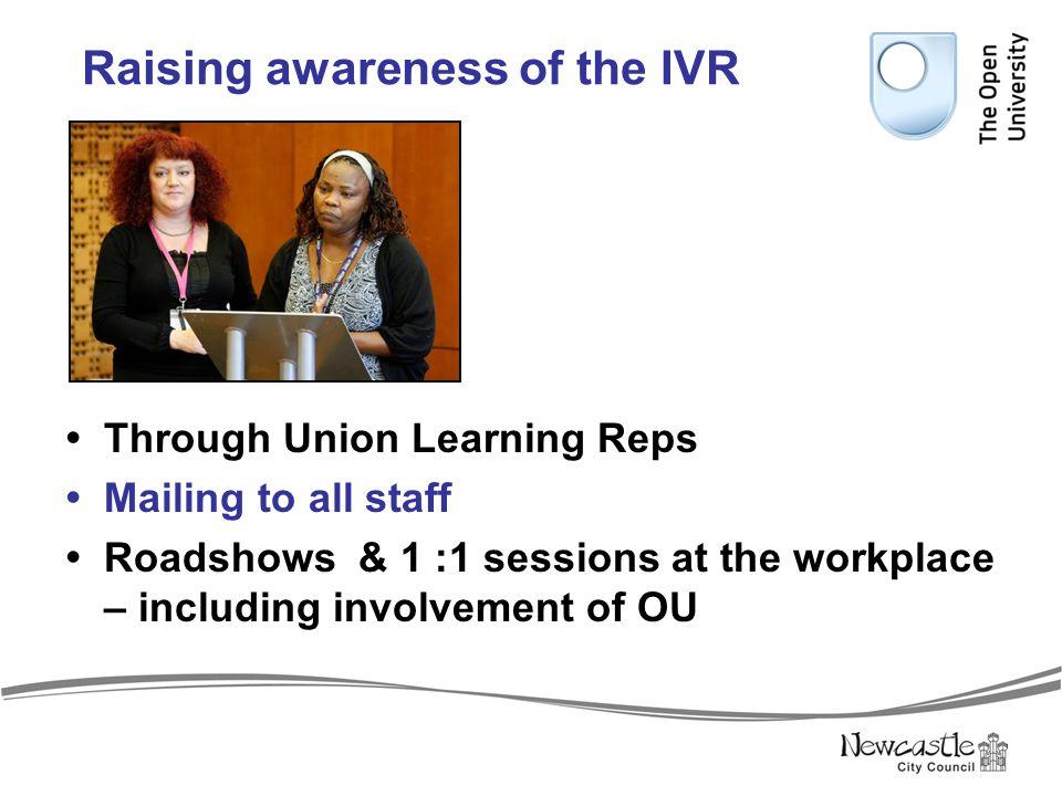 Raising awareness of the IVR
