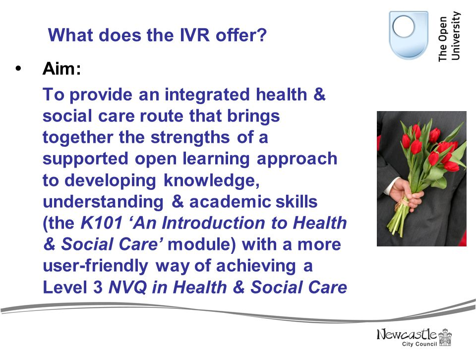 What does the IVR offer Aim: