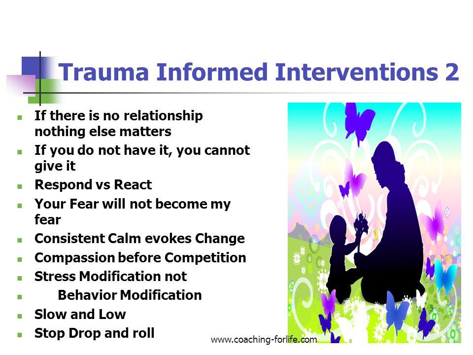 Trauma Informed Interventions 2