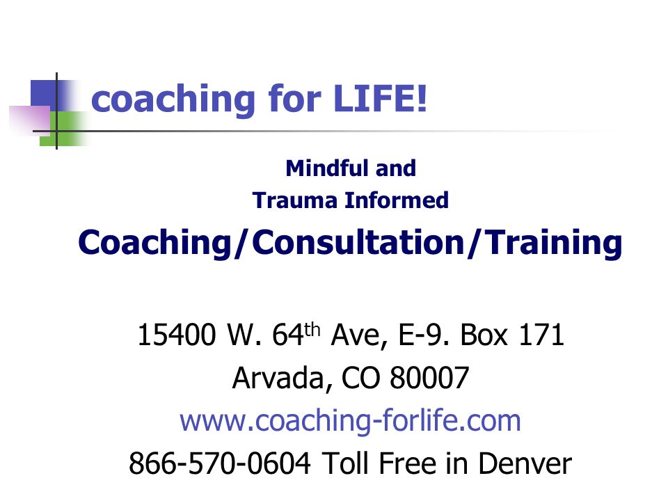 Coaching/Consultation/Training