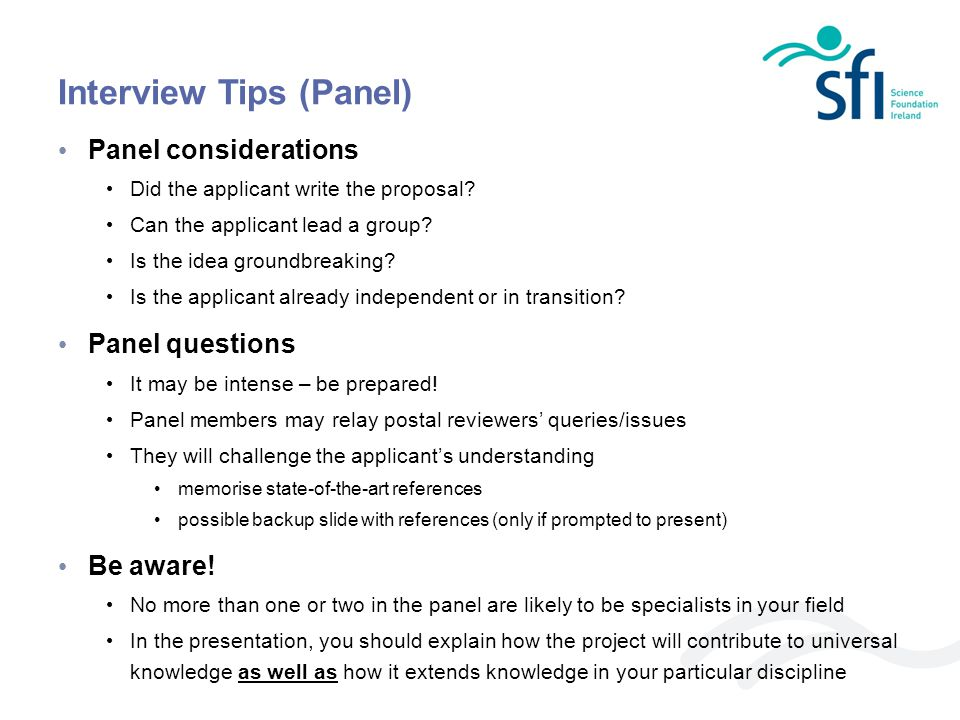 Interview Tips (Panel)