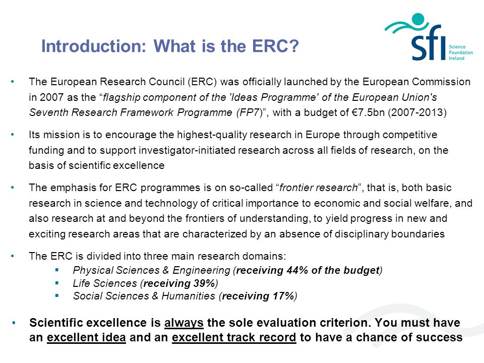 Introduction: What is the ERC