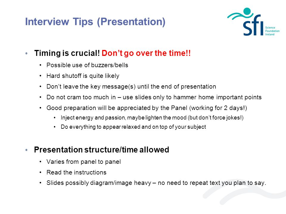 Interview Tips (Presentation)