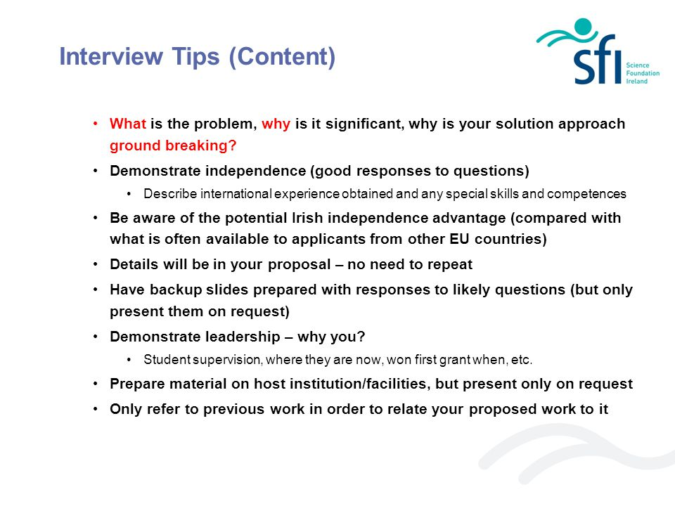 Interview Tips (Content)