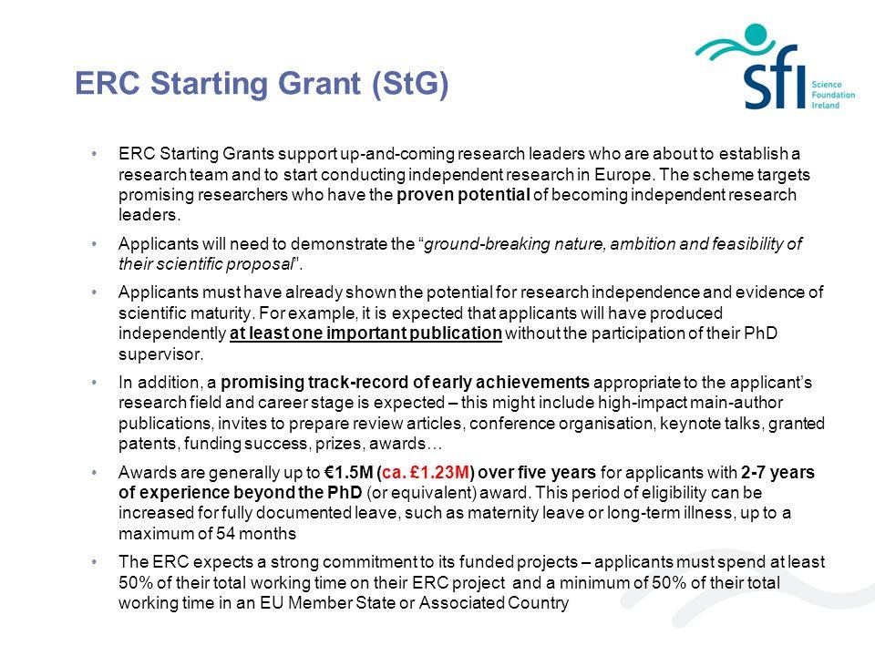 ERC Starting Grant (StG)