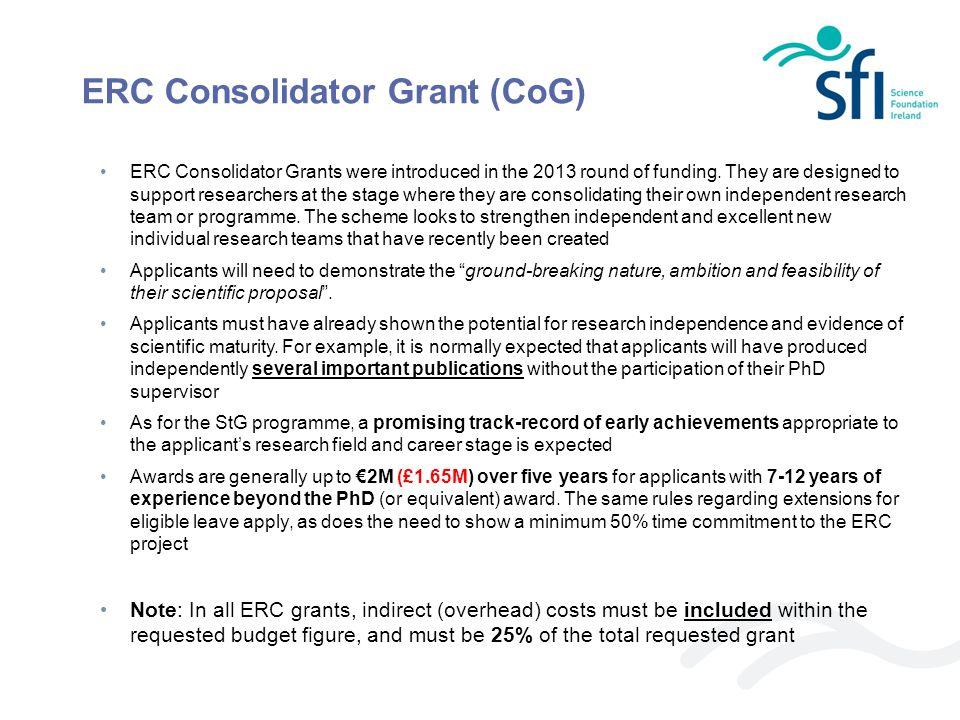 ERC Consolidator Grant (CoG)