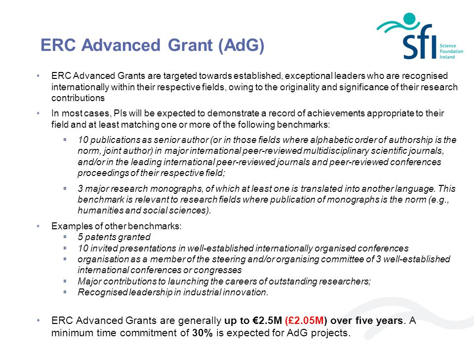 ERC Advanced Grant (AdG)