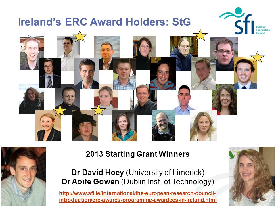 Ireland's ERC Award Holders: StG