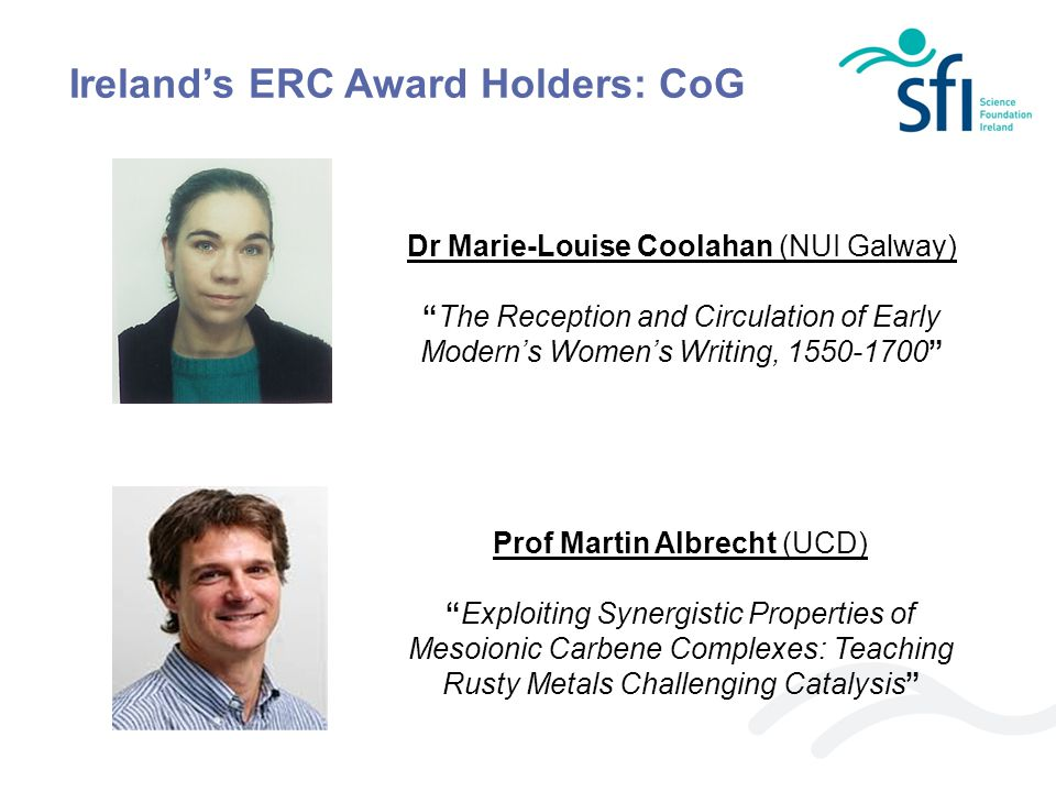 Ireland's ERC Award Holders: CoG