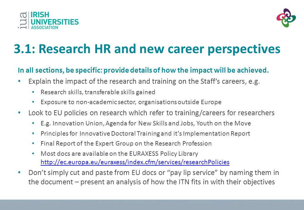 3.1: Research HR and new career perspectives