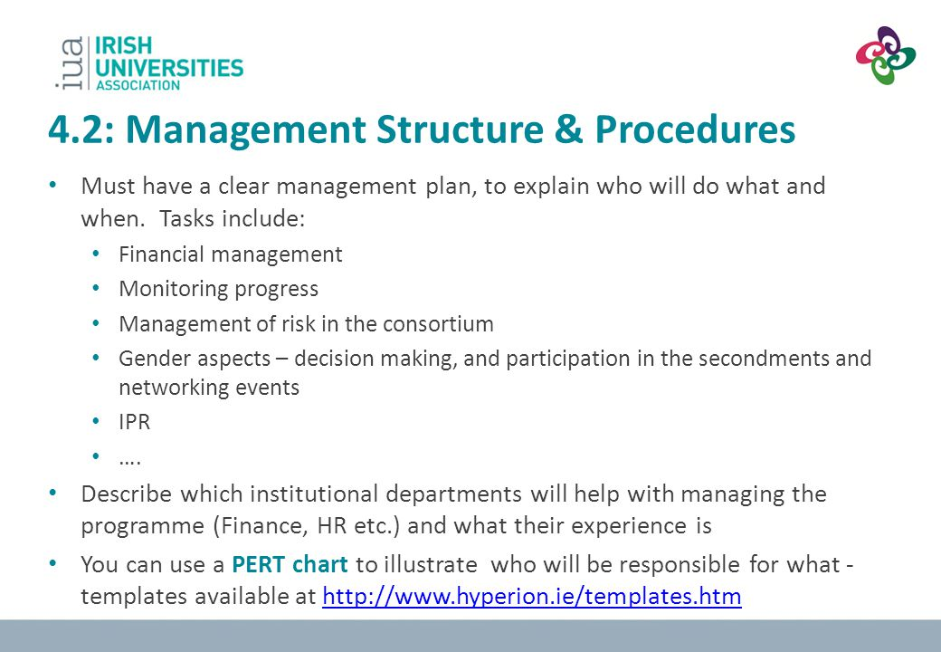 4.2: Management Structure & Procedures