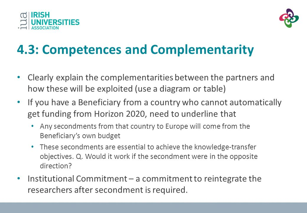 4.3: Competences and Complementarity