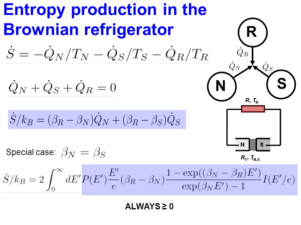 Entropy production in the Brownian refrigerator