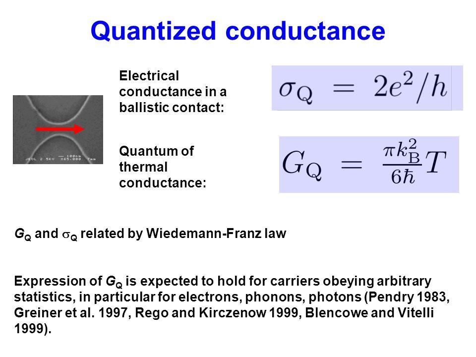 Quantized conductance