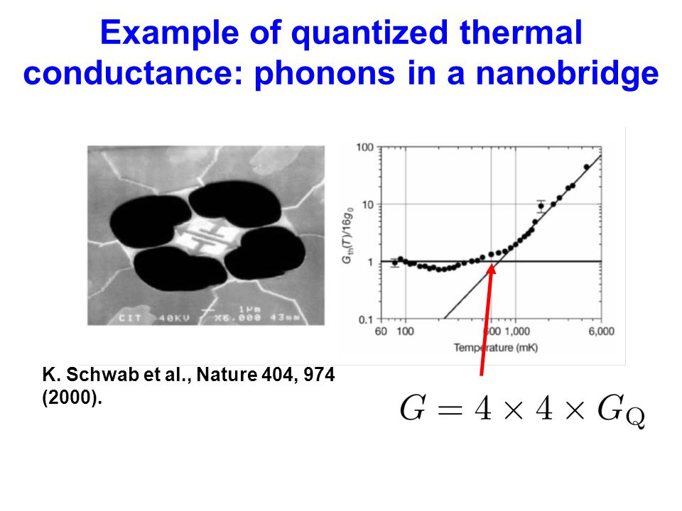 Example of quantized thermal conductance: phonons in a nanobridge