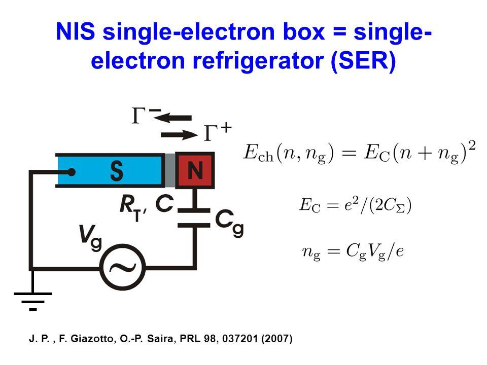 NIS single-electron box = single-electron refrigerator (SER)