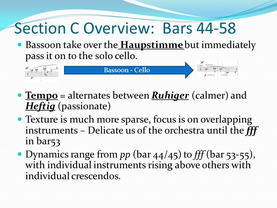 Section C Overview: Bars 44-58